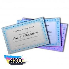 02 Certificados 420x300mm Silver Lux 300g
