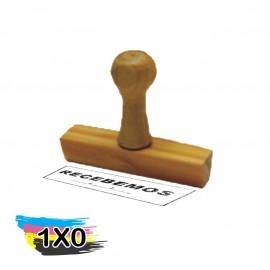 01 Carimbo Madeira Tradicional 60x7mm