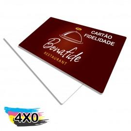 25 CARTÕES FIDELIDADE PLÁSTICO COMPACTO 50G 59x90