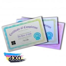 02 CERTIFICADOS 300X210MM SILVER LUX 300G